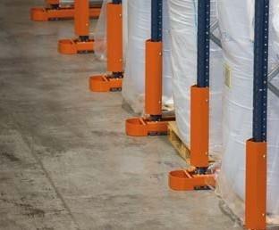 вертикальная защита стеллажей
